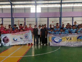 Jalin Silaturahim, Punggawa Sepakbola Dan Futsal PDAM Tirta Bhagasasi Sambangi Markas PDAM Tirta Sukapura