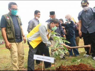 Peduli Kelestarian Lingkungan, Karang Taruna Desa Ciledug Tanam Ratusan Bibit Pohon
