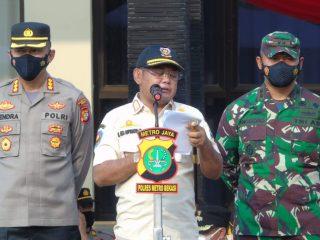 Bupati Bekasi Pimpin Gelar Apel Pasukan Ketupat 2021